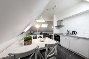 A kitchen or kitchenette at Vakantieappartementen centrum Oudewater