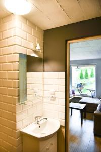 A bathroom at U Bednarzy