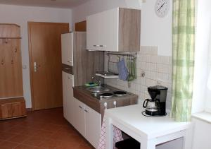 Küche/Küchenzeile in der Unterkunft Wohnen beim Kunsthandwerker