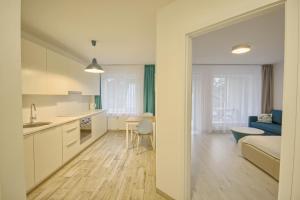 Virtuvė arba virtuvėlė apgyvendinimo įstaigoje Snow Apartment