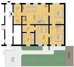 The floor plan of Ferienwohnung im Harzer Landhaus