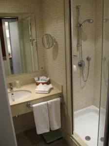A bathroom at Aparthotel Shusski