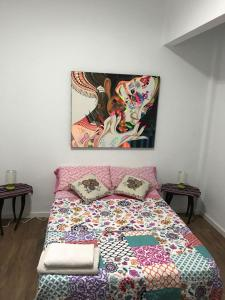 A bed or beds in a room at Apartamento La Concepción