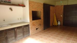A bathroom at Casa em Torres