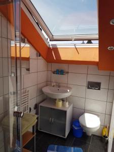 A bathroom at Casa Patrizia
