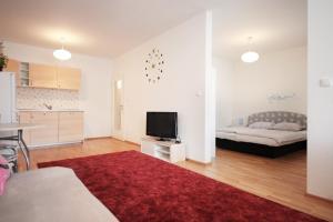 Ένα ή περισσότερα κρεβάτια σε δωμάτιο στο Appartment Harfa