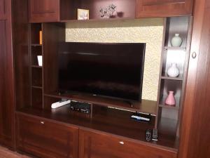 Телевизор и/или развлекательный центр в Apartment Lenina 1 v