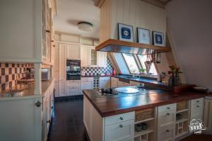 Una cocina o zona de cocina en Zaanhof –Luxurious Amsterdam Zaanse Schans Loft Apartment