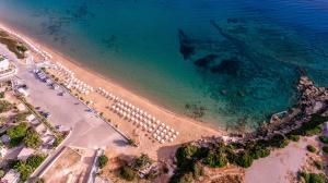 A bird's-eye view of Angela Studios Pefkos