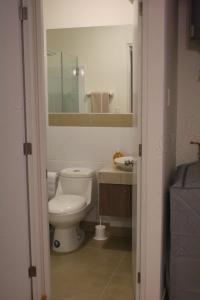 A bathroom at Apartamento en Barranco