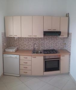 Ett kök eller pentry på Apartment Anda