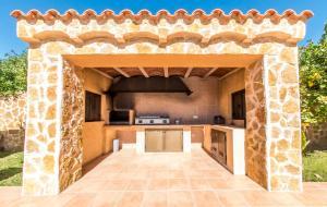 A kitchen or kitchenette at Villa San Jordi Ibiza Ses Salines