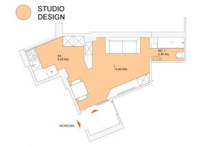 The floor plan of LHP Suite Napoli Chiaia