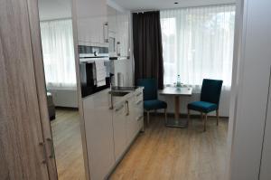 A kitchen or kitchenette at Apartments am Freizeitpark