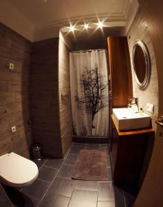 A bathroom at Selfoss Apartments