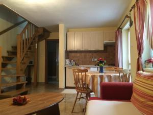 Kuchyňa alebo kuchynka v ubytovaní Apartmany Cierny Balog