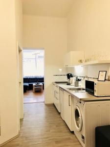 A kitchen or kitchenette at Jindrisska Central Stay
