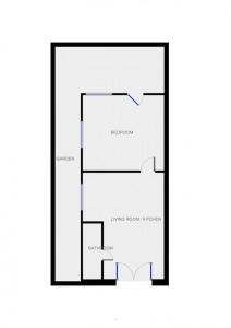 The floor plan of Quiet, Cosy, Modern Apt