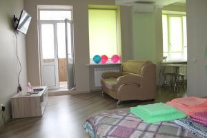 Гостиная зона в Apartment on Sovietskaya