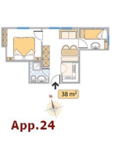 Planimetria di Apartments Residence Alta Badia