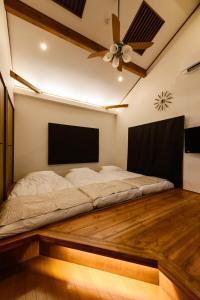 ゲストヴィラ箱根湯本201にあるベッド