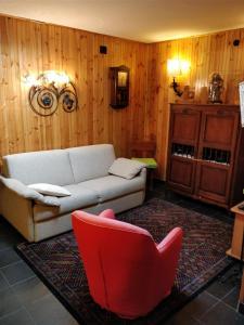 A seating area at Grazioso appartamento al centro di Roccaraso