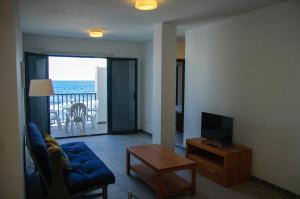 A seating area at Seaview Famara Beach