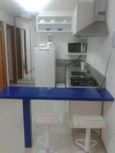 A cozinha ou cozinha compacta de Flats Malawi Beach Residence