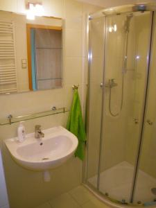 Koupelna v ubytování Ubytování U Aurory