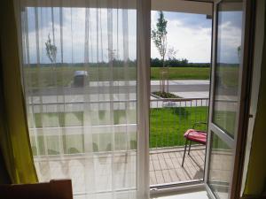 Výhled na bazén z ubytování Ubytování U Aurory nebo okolí