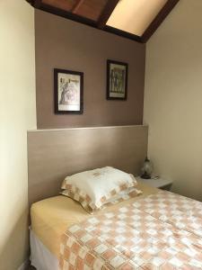 Cama o camas de una habitación en Chale 47