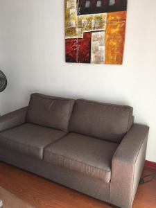 Zona de estar de Departamento Santiago Santa Lucia