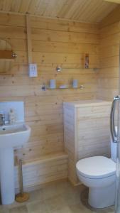 A bathroom at Lochinvar Log Cabin
