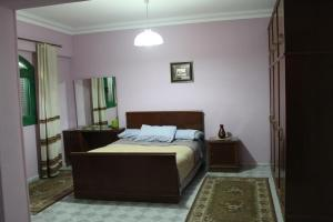 A bed or beds in a room at Apartment Close to Cairo Airport