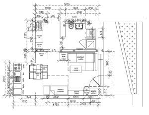 The floor plan of U Michelského mlýna 1