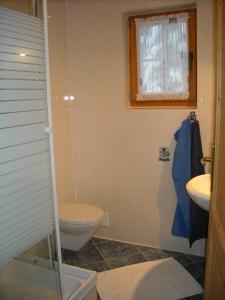 A bathroom at Appartements Zirbenalm