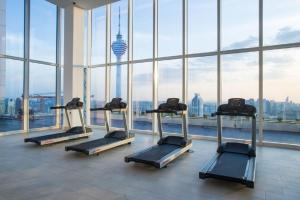 The fitness center and/or fitness facilities at Platinum Residence Kuala Lumpur