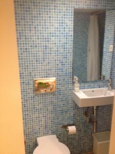 A bathroom at Studio in the heart of Alfama
