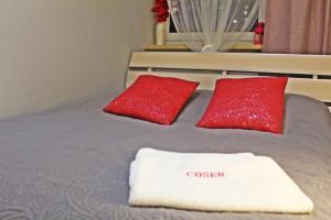 Lova arba lovos apgyvendinimo įstaigoje Coser Apartamenty Centrum
