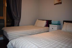 A bed or beds in a room at Dublin Apartment