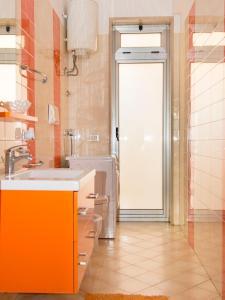 A bathroom at Casa Tina