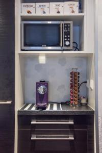 Küche/Küchenzeile in der Unterkunft Ferienwohnung im Fürstenland