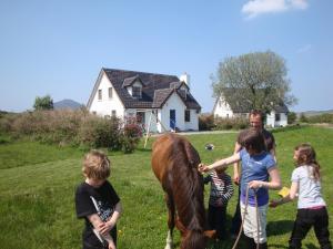 Children staying at Letterfrack Farm Lodge
