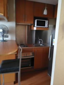 Una cocina o zona de cocina en Providencia Apart