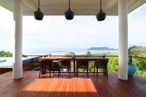 A balcony or terrace at Villa Nambung