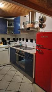 Küche/Küchenzeile in der Unterkunft Fewo Bendig