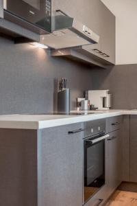 מטבח או מטבחון ב-Apartmenthaus Enzian Hochsölden