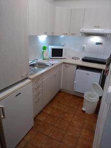 A kitchen or kitchenette at Appartement Jachymov