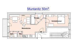 Naktsmītnes Haus Ursula telpu plāns