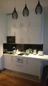 A kitchen or kitchenette at Apartments Home1 Zagreb